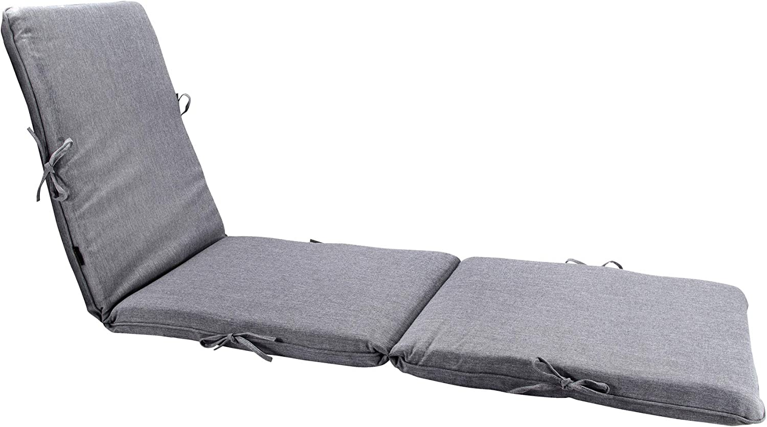Bossima Indoor Outdoor Lounge Chair Cushions Chaise Bench Seasonal Replacement Cushions Patio Furniture Cushions (Olefin Light Grey)