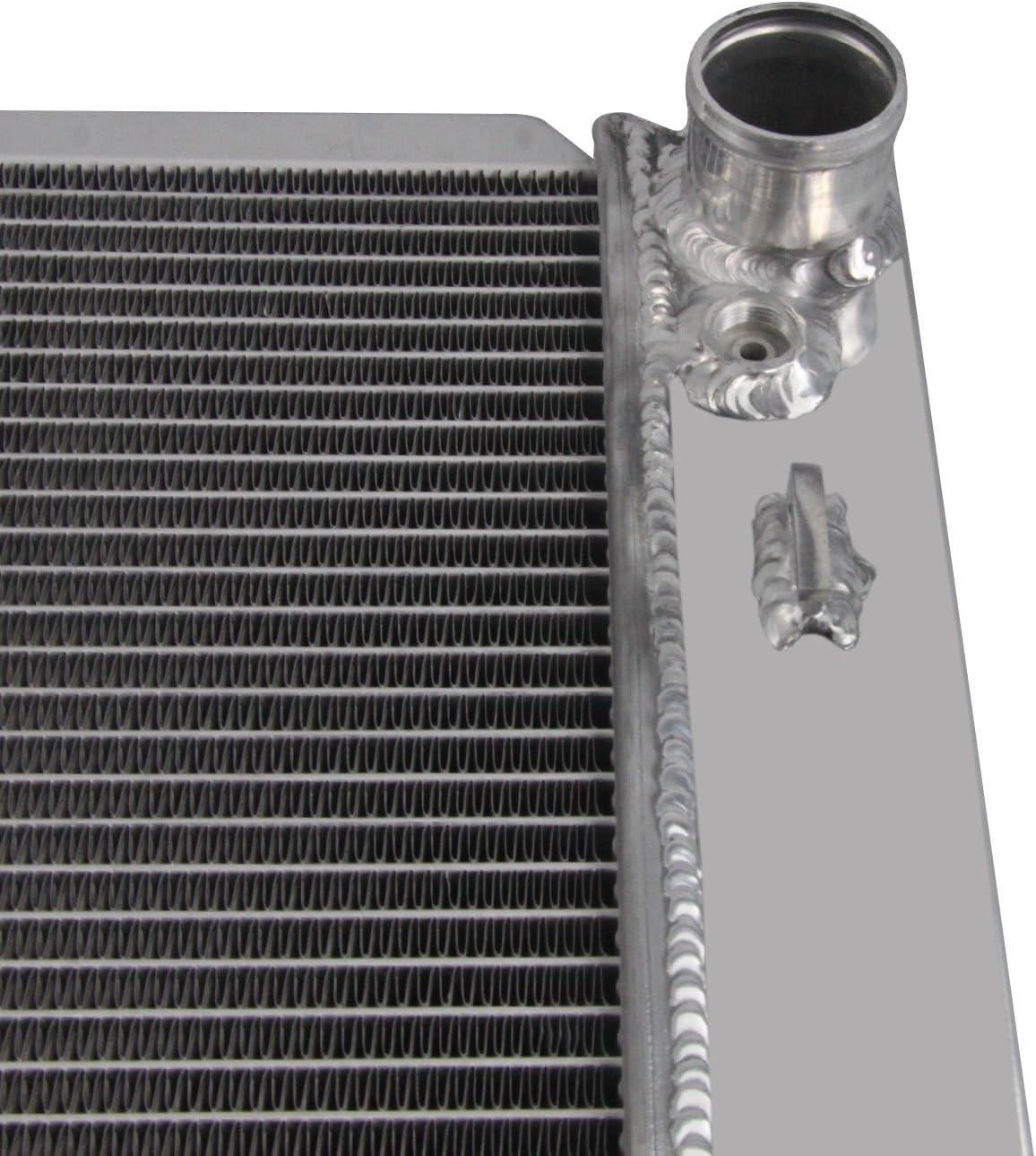 ALLOYWORKS 26mm Core Aluminum Radiator For 1999-2010 Ford Expedition Lobo F-150 F-250 F-350 Super Duty 4.2L V6 4.6L 5.4L V8 AT//MT