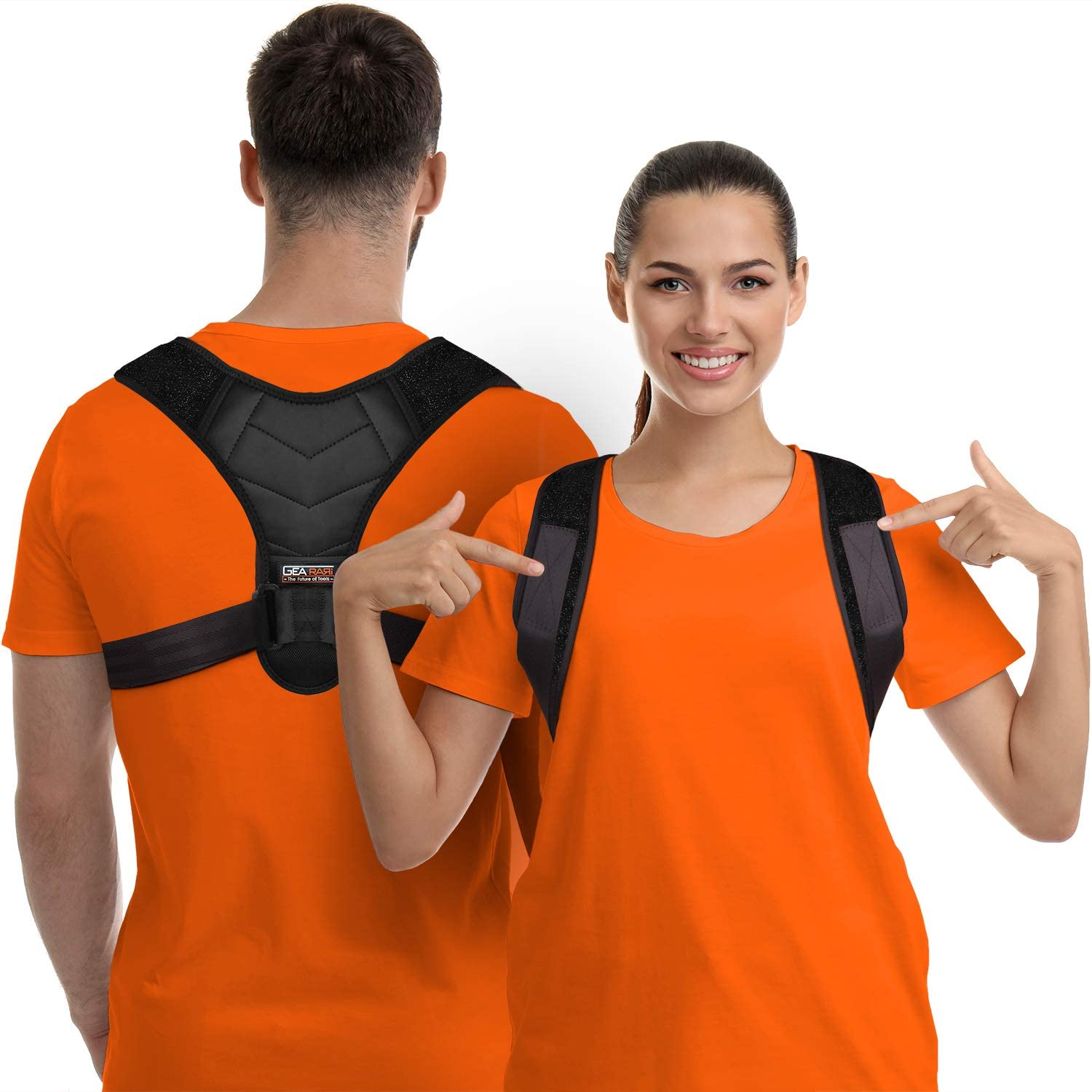 Physical Therapy for Gym Upper Back Brace for Clavicle Support Back /& Shoulder Adjustable Back Straightener and Providing Pain Relief from Neck Yoga Posture Corrector for Men and Women