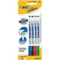 BIC Velleda 1721 Whiteboard Pens Fine Bullet Nib - Assorted Colours, Pack of 4 Whiteboard Markers, white (875711)