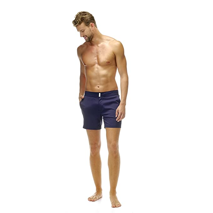 VILEBREQUIN Bañador Merise Superflex de color liso - Hombre - XL - Azul Marino