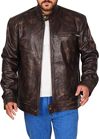 MacGyver Series Angus Costume Lucas Till Stylish Real Distressed Leather Jacket