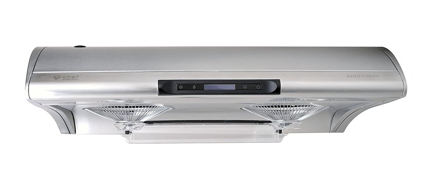 "Chef Range Hood C400 30"" Slim Under Cabinet Kitchen Extractor 