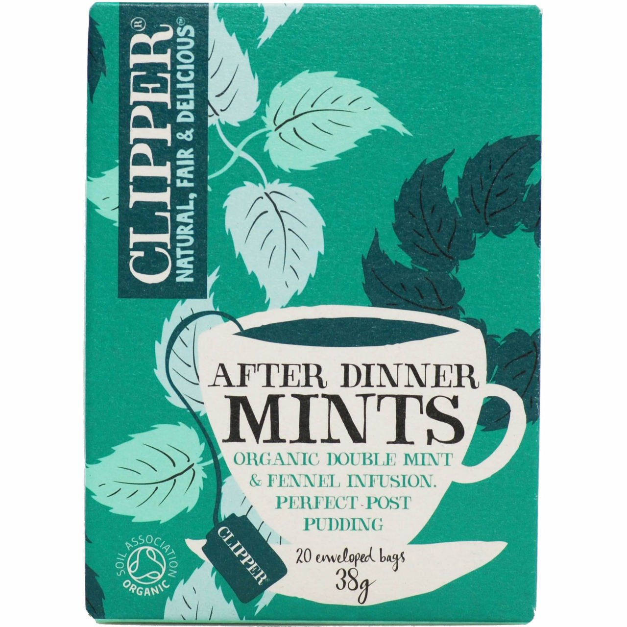 Clipper After Dinner Mints and Fennel Tea Bag - Pack of 20, 38 g Clipper Tea 73422