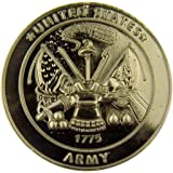 Silver Tone Faithful Protector Pocket Token with Prayer - United States Army