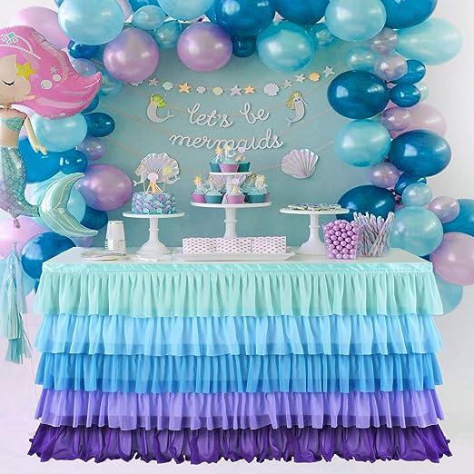 Amazon.com: Falda de mesa para mesa rectangular o redonda ...