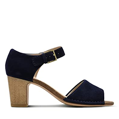 b25fa8af9ae3 Clarks Spiced Olivia Suede Sandals in Navy  Amazon.co.uk  Shoes   Bags