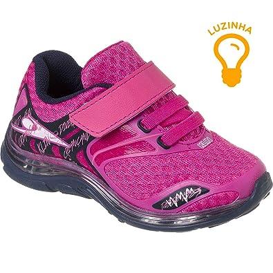 76e1fbfe00 Tênis de LED Infantil Klin Baby Light Velcro Cor  Pink Marinho - Tam ...