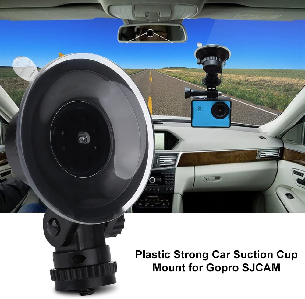 Sturdy Wear-Resistance Lightweight Durable Action Camera Accessory DSLR Camera Suction Mount with a Standard 1//4 Inches Screw for Car Taidda Plastic Strong Car Suction Cup Mount