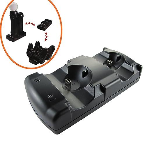 Pandaren PS3 controlador & Move 2 en 1 carga del cargador ...