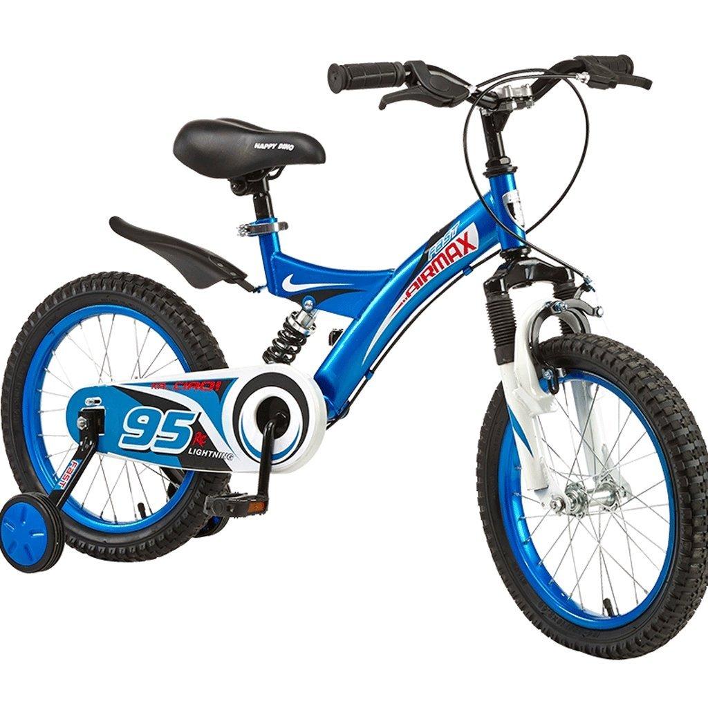 子供の自転車2-10歳の男の子の女の子の自転車のベイビーキャリア121416インチ (色 : 青, サイズ さいず : 14 inches) B07D9Z4H45 14 inches|青 青 14 inches