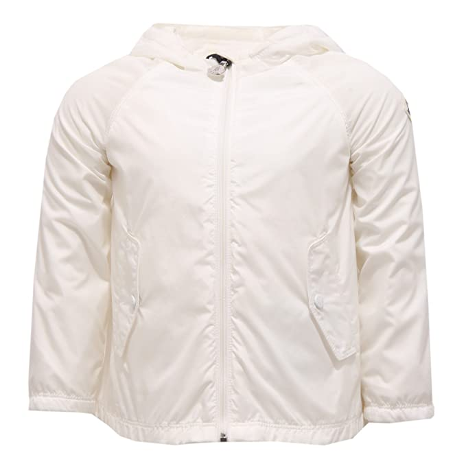 4542T giacca antivento bimba MONCLER BLUMA avorio bianco jacket kid [12/18 MONTHS]