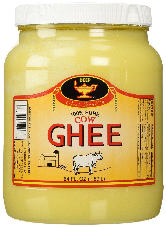 Deep Clarified Butter Ghee - 64 Oz. (4 Lbs) by DEEP (Image #1)