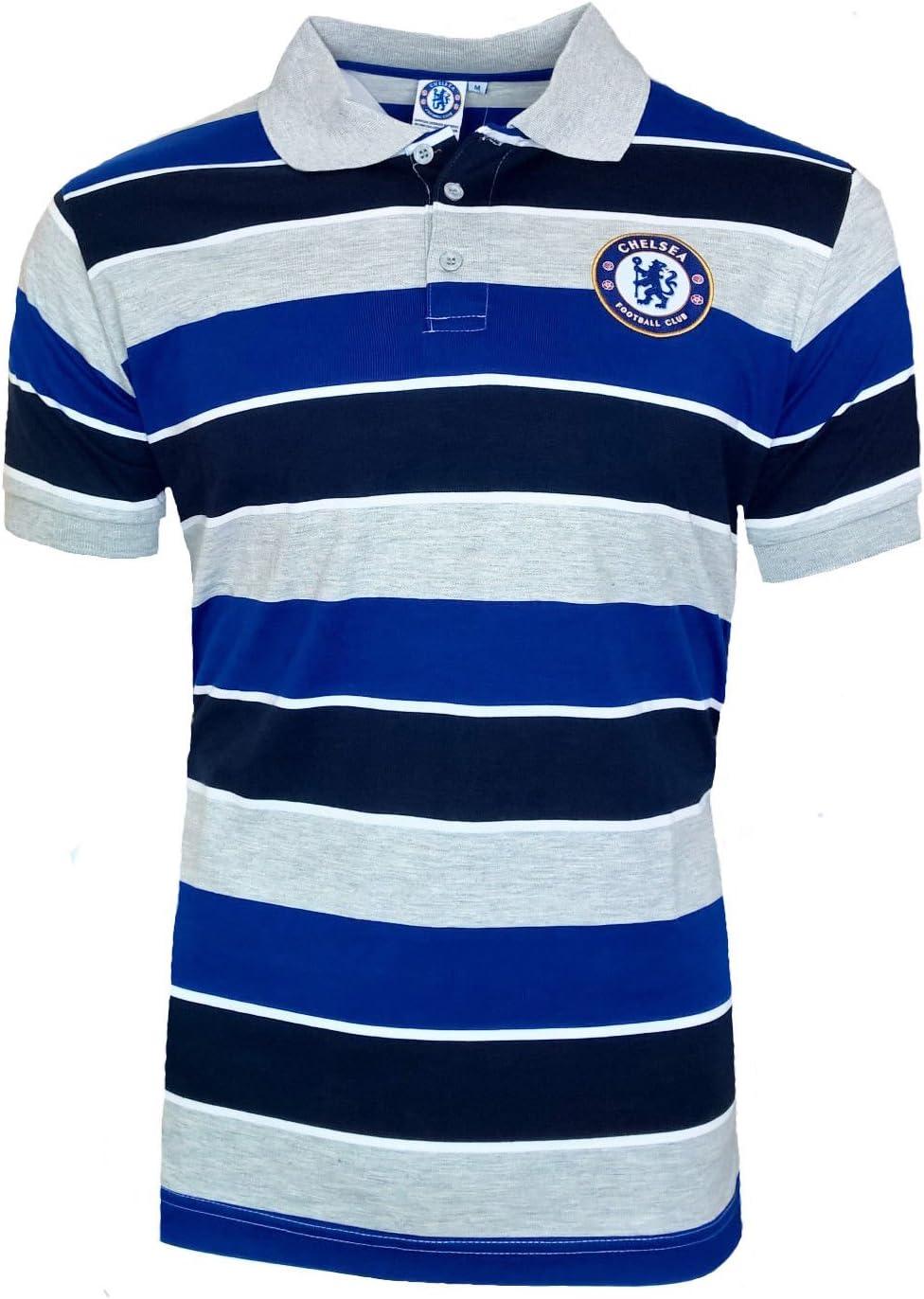 Oficial CHELSEA FC Classic Stripe Polo Shirt – Mens S – 3 x l ...