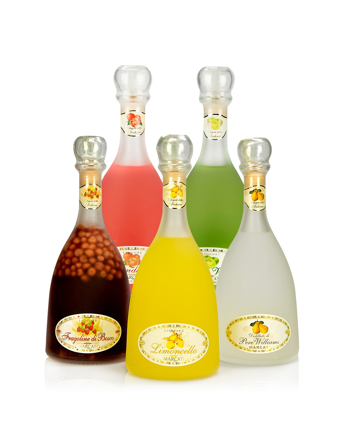 Limoncello of Sorrento Marcati Collection (Pack 5 Bottles-satin Finish)