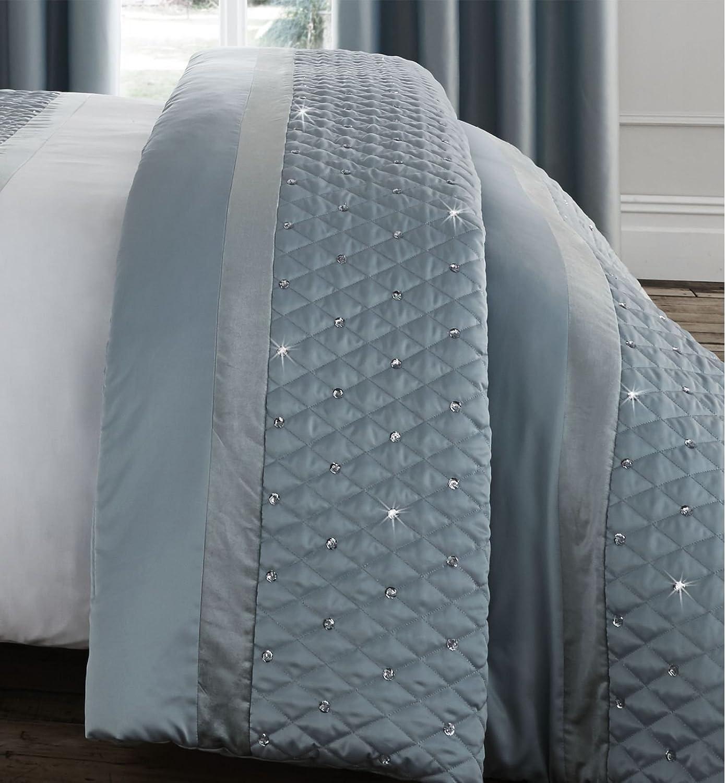 Catherine Lansfield Sequin Cluster Bedspread Duck egg 240x260cm Turner Bianca BD/47366/W/24026/DE