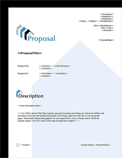 Amazon proposal pack real estate 4 business proposals plans proposal pack real estate 4 business proposals plans templates samples and friedricerecipe Gallery