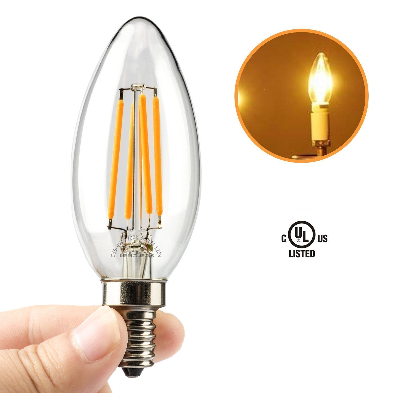 Surprising chandelier light bulbs energy saving photos simple amazon com leadleds 4w candelabra led bulb 40 watt equivalent energy efficient arubaitofo Gallery
