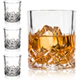 Crystal Whiskey Glasses-Premium 11 OZ Scotch Glasses Set of 4 /Old Fashioned Whiskey Glasses/Gift for Scotch Lovers/Style Gla
