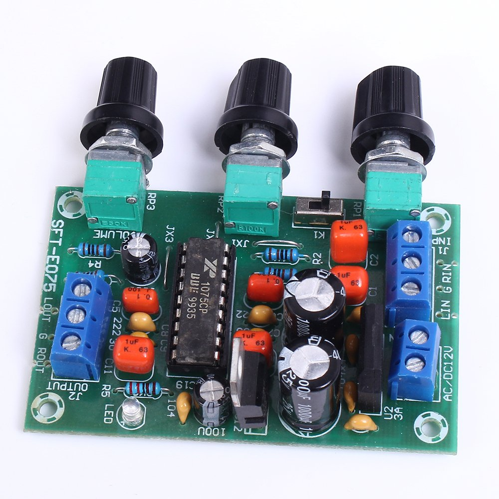 Icstation Xr1075 Bbe Sound Processor Tone Adjustment 5532 Ic Mic Preamplifire Circuit Board Preamp Industrial Scientific