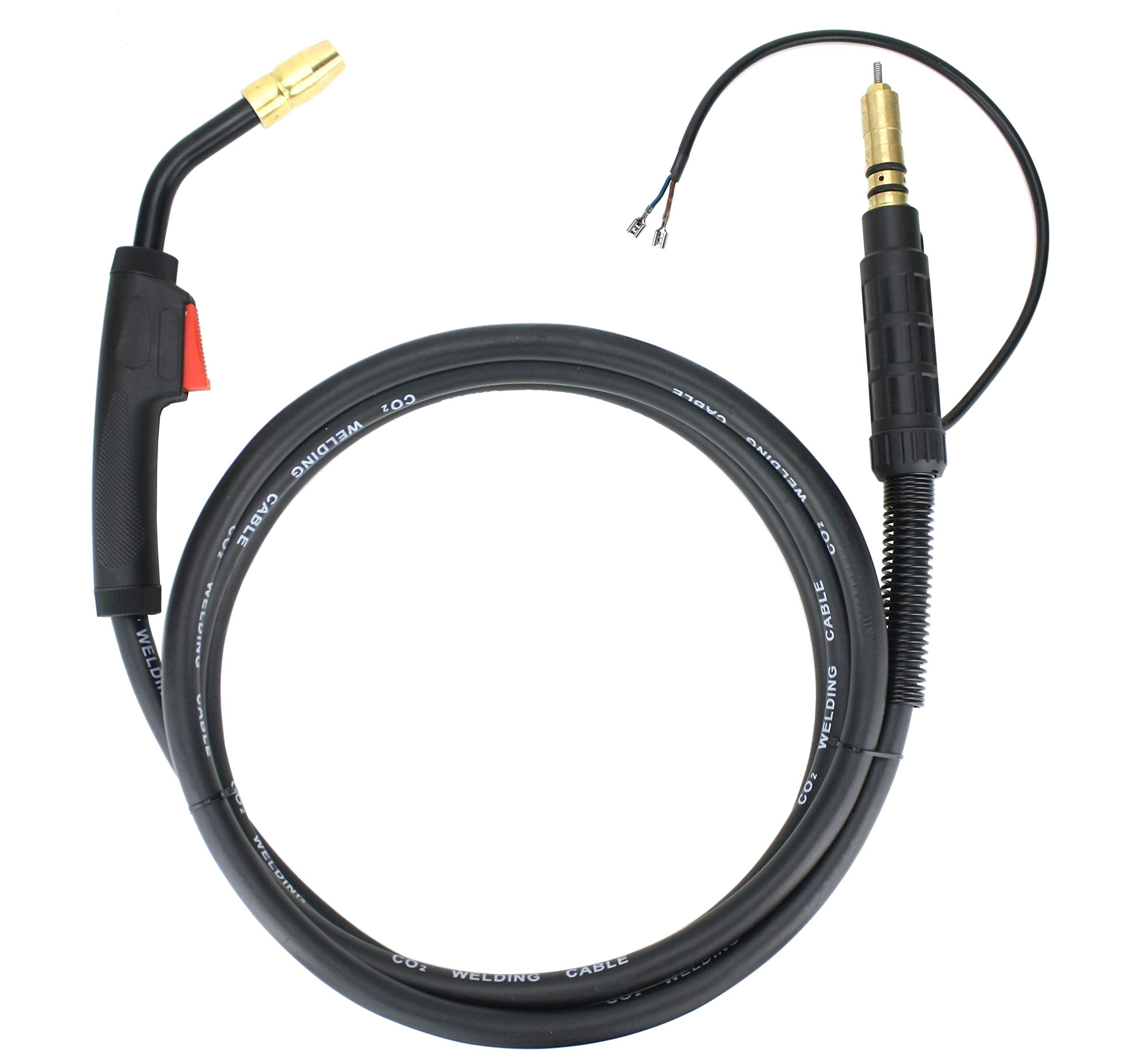 100 Amp MIG Gun Torch compatible with Hobart - 10 Feet Cable - Spade Terminals Signal Connectors by SÜA
