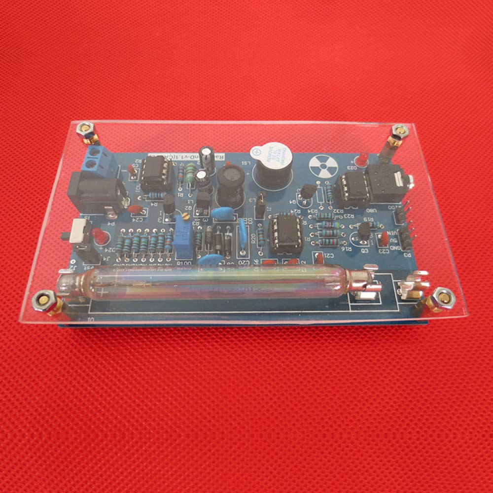 Festnight Assembled DIY Geiger Counter Kit Module Nuclear Radiation Detector