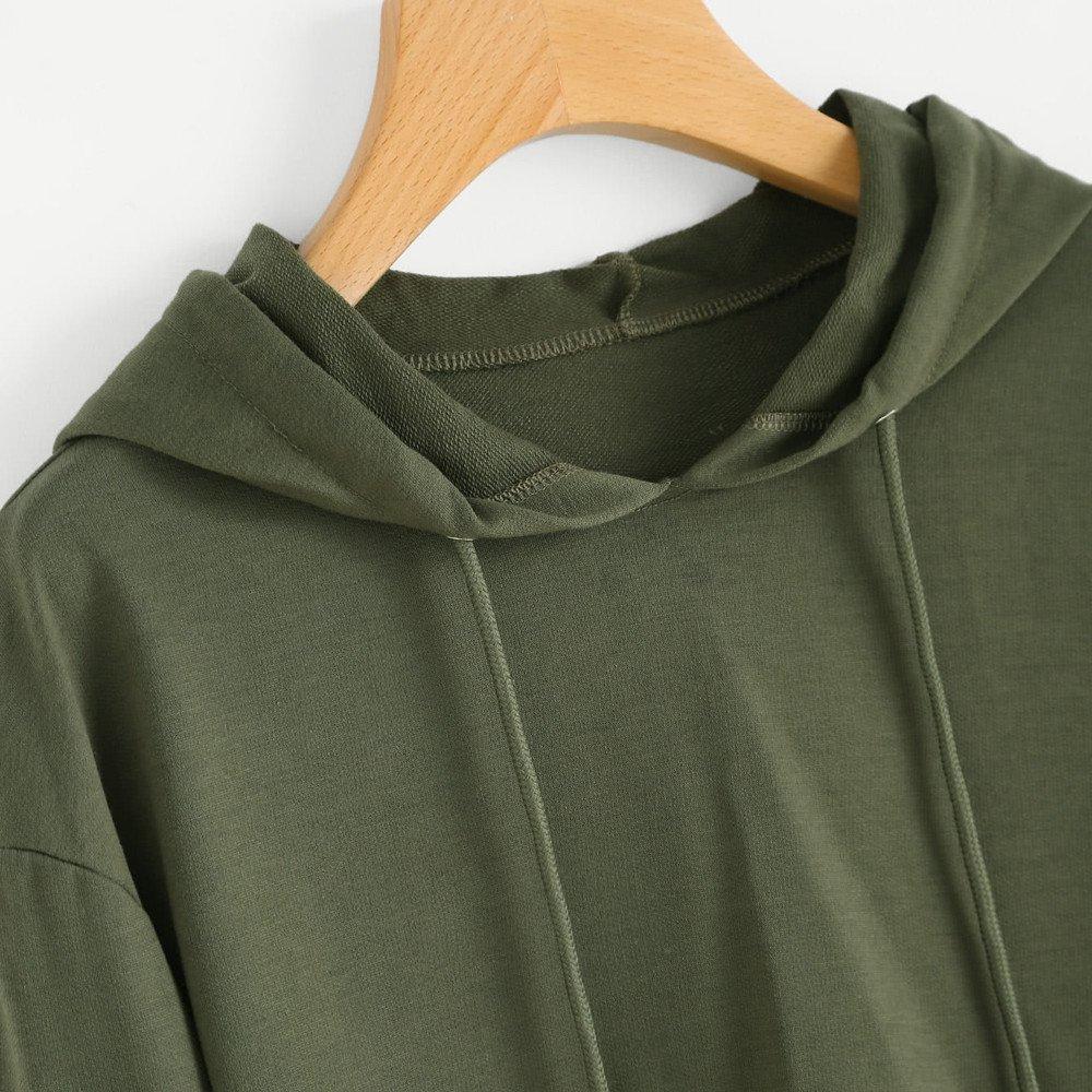 Amazon.com: 2019 Women Hoodie Sweatshirt Jumper,Ladies Sweater Crop Top Coat Sports Pullover Tops (S, Gray): Electronics