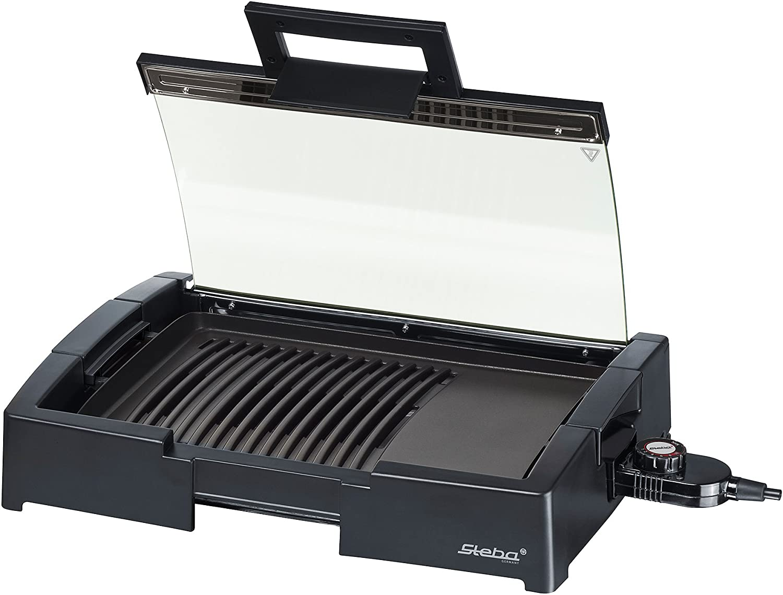 Steba BBQ-Tischgrill schwarz 37 x 44,5 x 9 cm 066200 (g4w)