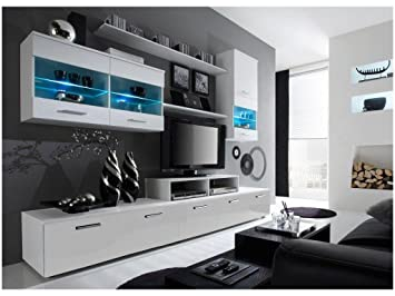 Paris Contemporary Design Wall Unit/Modern Entertainment Center/Unique  Modern Design/with LED