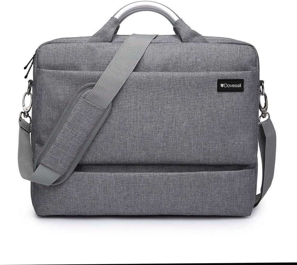 14.1 inch Laptop Bag, Travel Briefcase Laptop Crossbody Shoulder Bag Strap, Business Office Messenger Briefcase for Men & Women Fits 13-14 Inch Laptop/Computer/MacBook,Gray