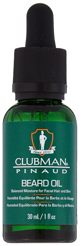 Clubman Pinaud Barbershop Style Beard Oil, Balanced Moisture for Facial Hair and Skin, 1 fl oz/30 mL 27996