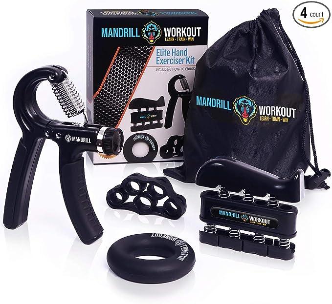 HAUSBELL Hand Grip Strength Exerciser Adjustable Resistance Workout Kit Hand Grip Hand Gripper Hand Strengtheners Grip Strength Trainer Forearm Grip Hand Grip Strengtheners