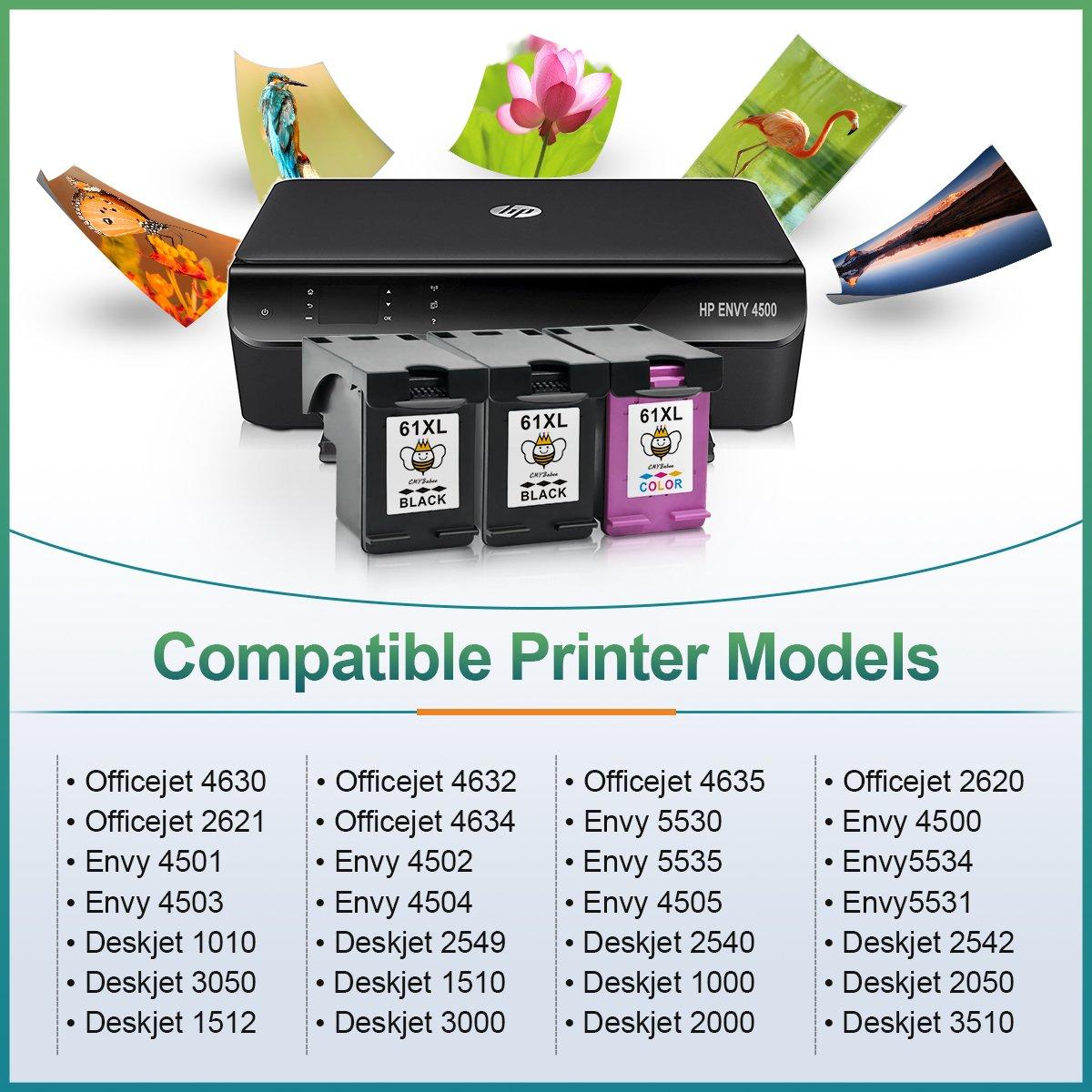 cmybabee - Cartucho de tinta remanufacturado reemplazo para HP 61 ...