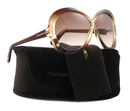 cc63cc6e226 Image Unavailable. Image not available for. Color  Tom Ford TF 226 Margot  47F Brown Sunglasses ...