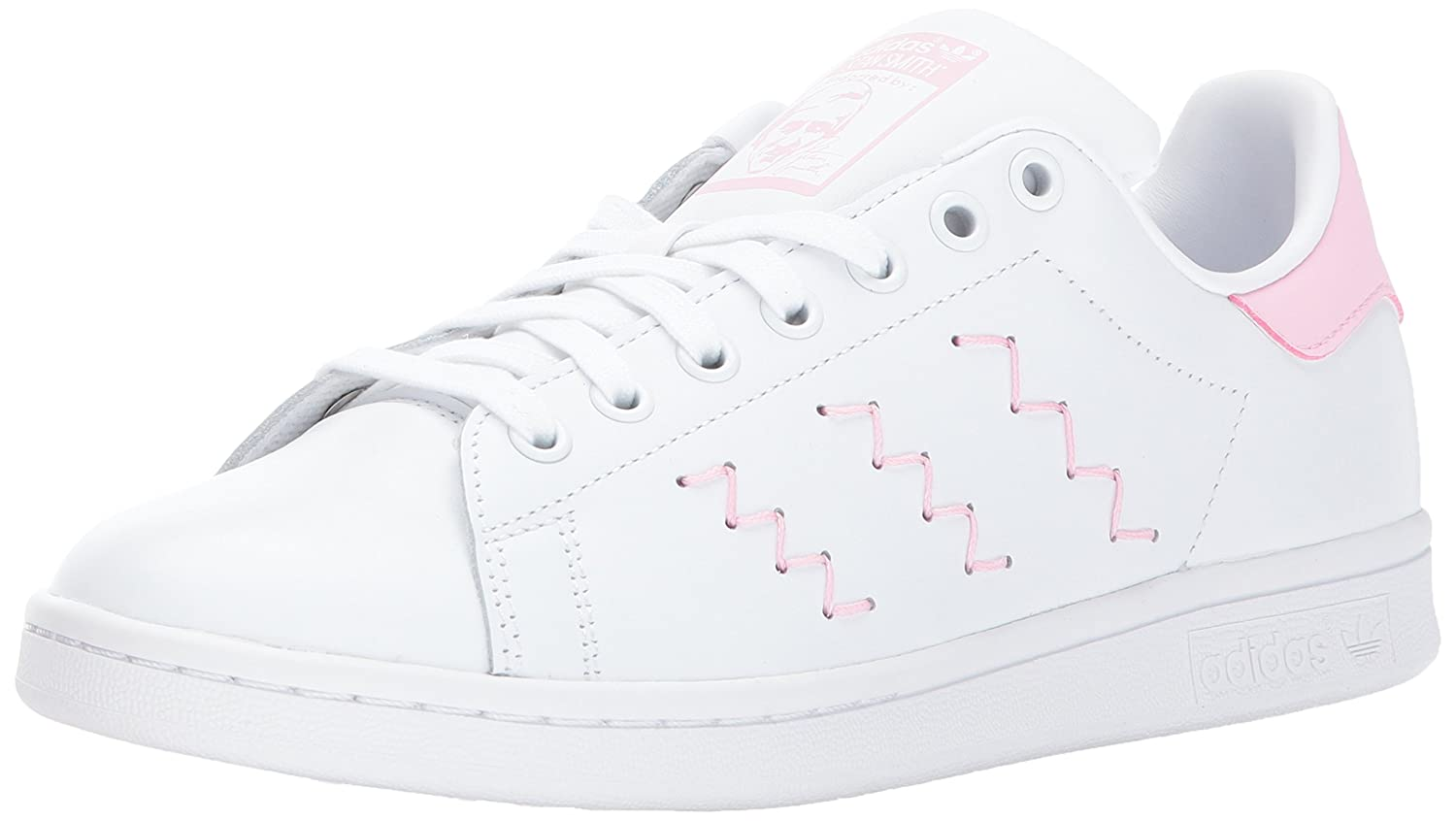adidas Originals Women's Stan Smith W Fashion Sneaker B01MU0PIM3 5.5 B(M) US|White/White/Wonder Pink