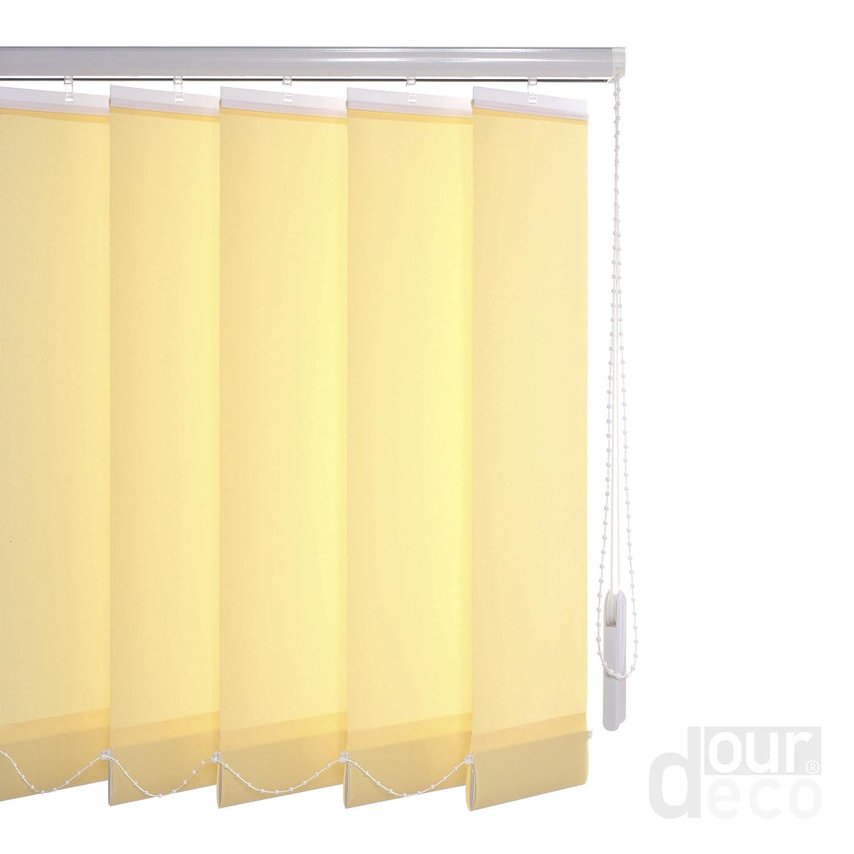 Ourdeco® Komplett-Vertikalanlage Breite  250 cm Höhe Höhe Höhe  180 cm Farbe  blau Lamellenbreite 127 mm in der Höhe kürzbar Decken- oder Wandmontage 8b9b1e