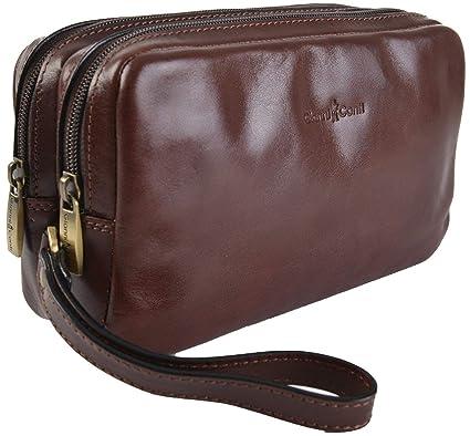 92c5c0acee05 Gianni Conti Fine Italian Leather BROWN Mens Travel Wash Toiletry Bag  905158: Amazon.co.uk: Luggage