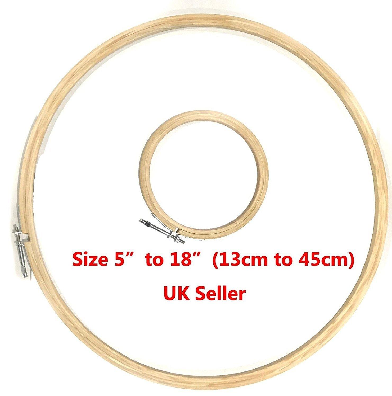 Wooden Cross Stitch/Embroidery Hoop/Ring/cornici (10, 2cm–45, 7cm/10–45cm) 4 - 10 cm 2cm-45 eRadius