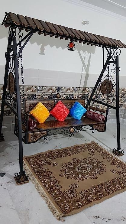 Shilpi Iron & Wooden Swings/Jhoola for Home & Garden Floor-Standing
