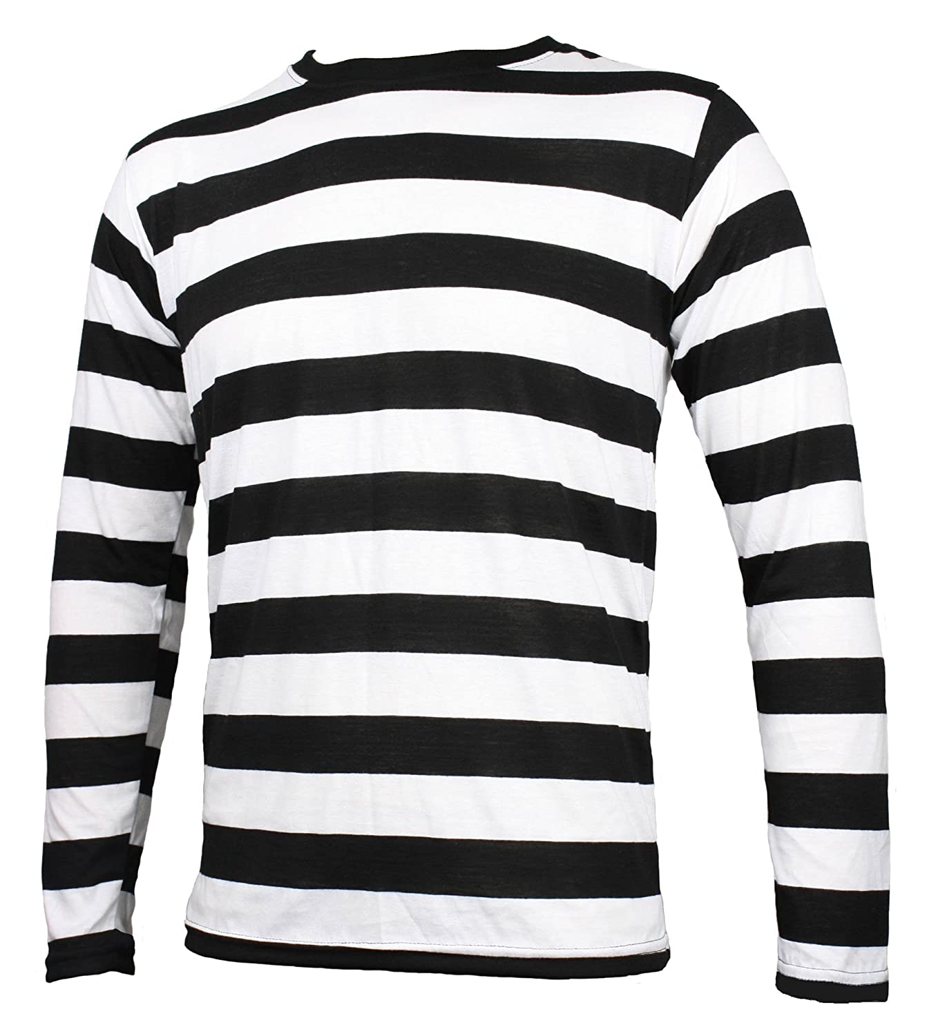 Black And White Striped Shirt Men