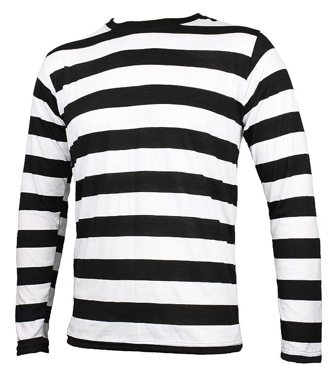 White Shirt Black Stripes