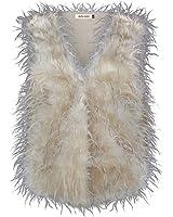 Ladies Faux Fur Feather Gilet Ladies Waistcoat Fashion Vest Jacket