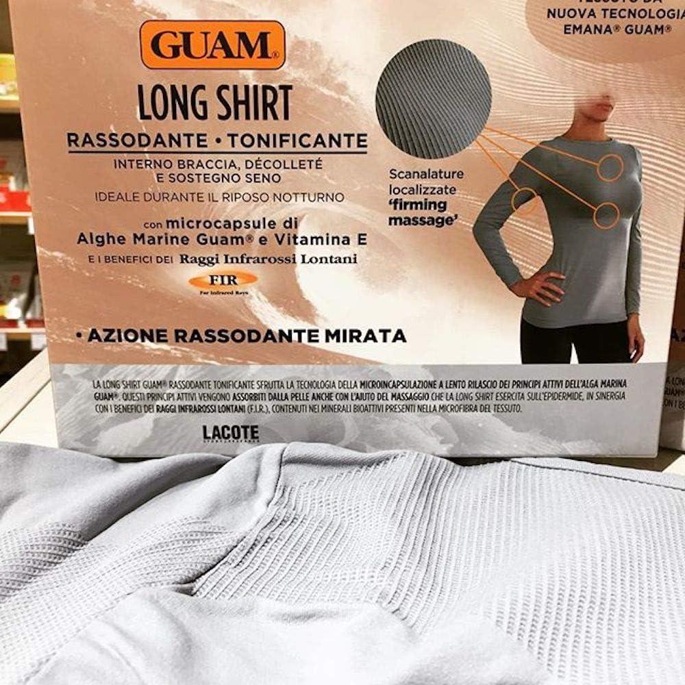 Long Shirt Donna Rassodante Tonificante Taglia S Colore Grigio Perla Guam