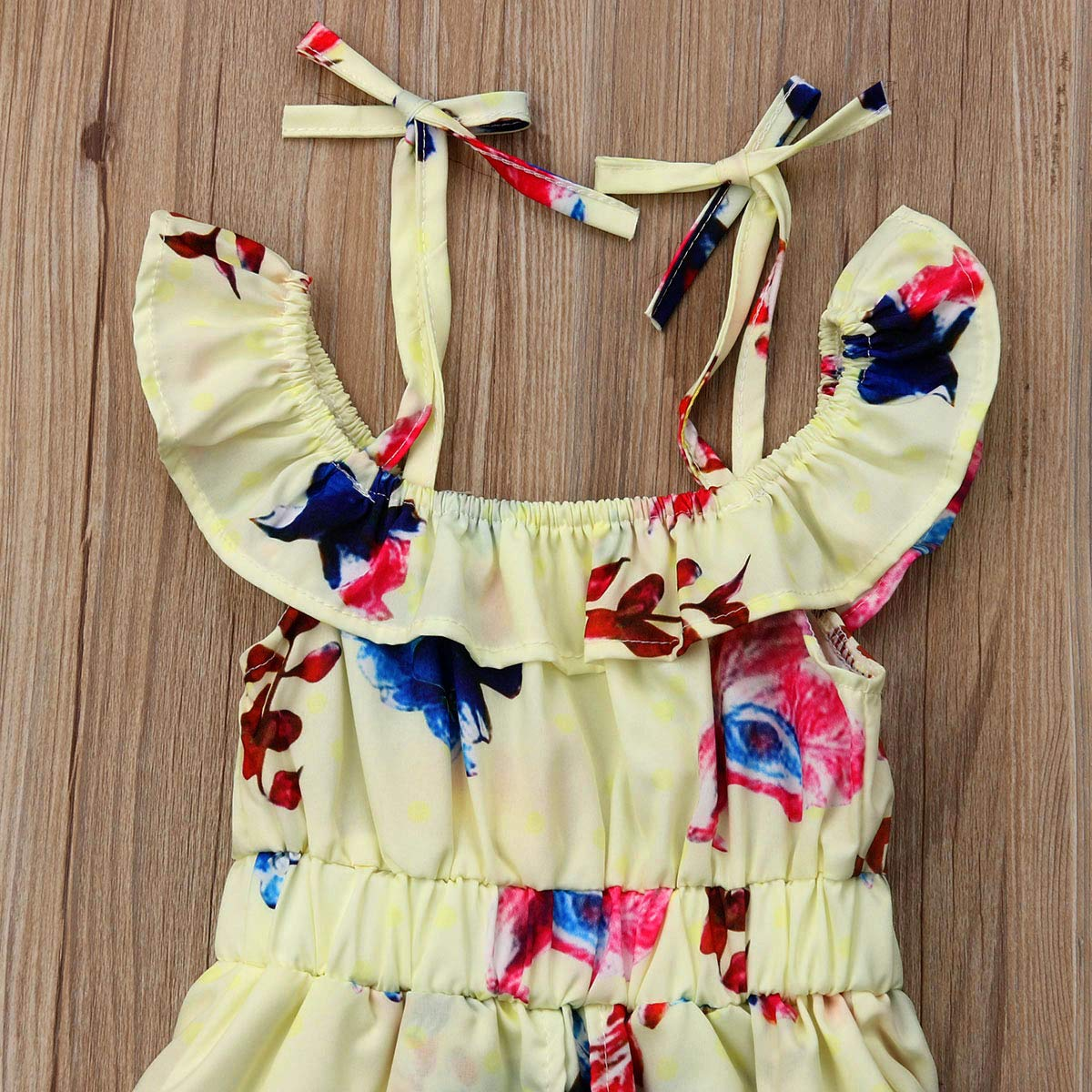 Toddler Baby Girl Dress Tutu Sleeveless Midi Dress Full Skirt with Straps Floral Skirt for 1-6years