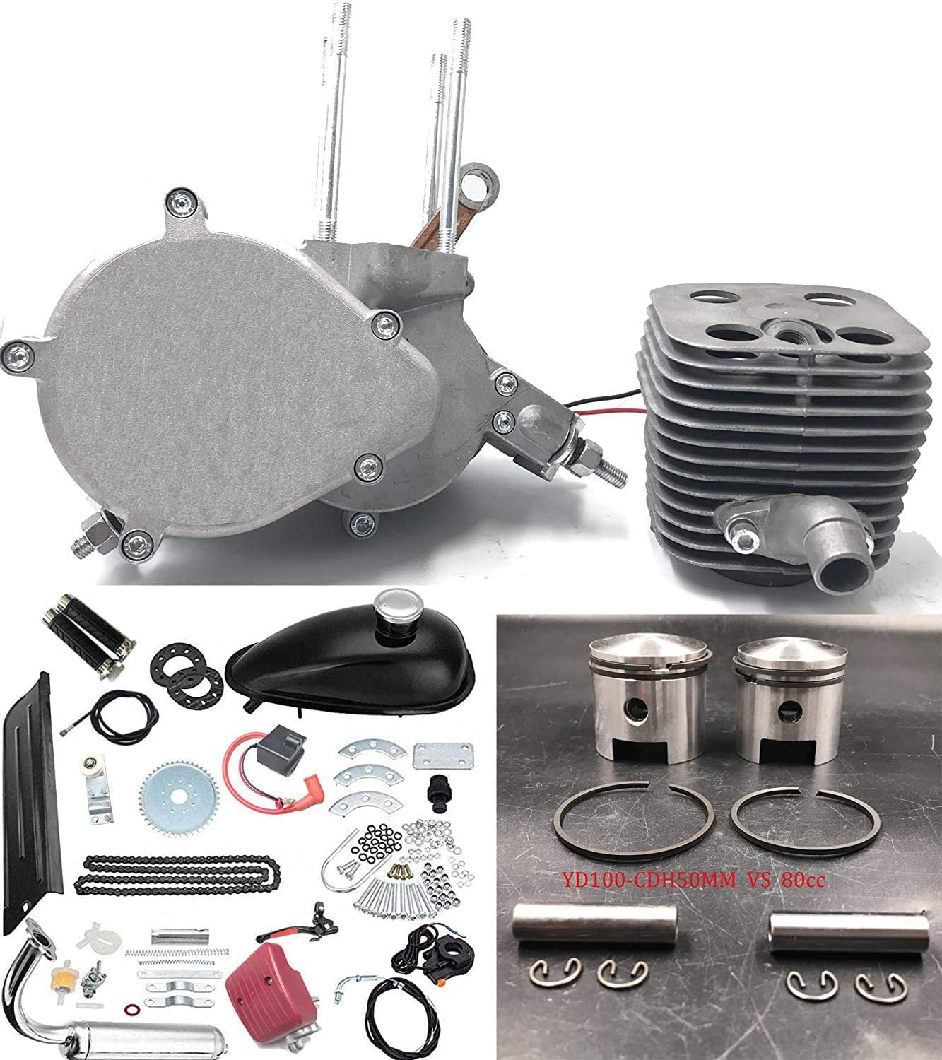 CDHPOWER 2 Stroke PK80 Gas Bicycle Engine Adapter Parts Set-66cc//80cc Spare Parts-Gas Motorized Bicycle