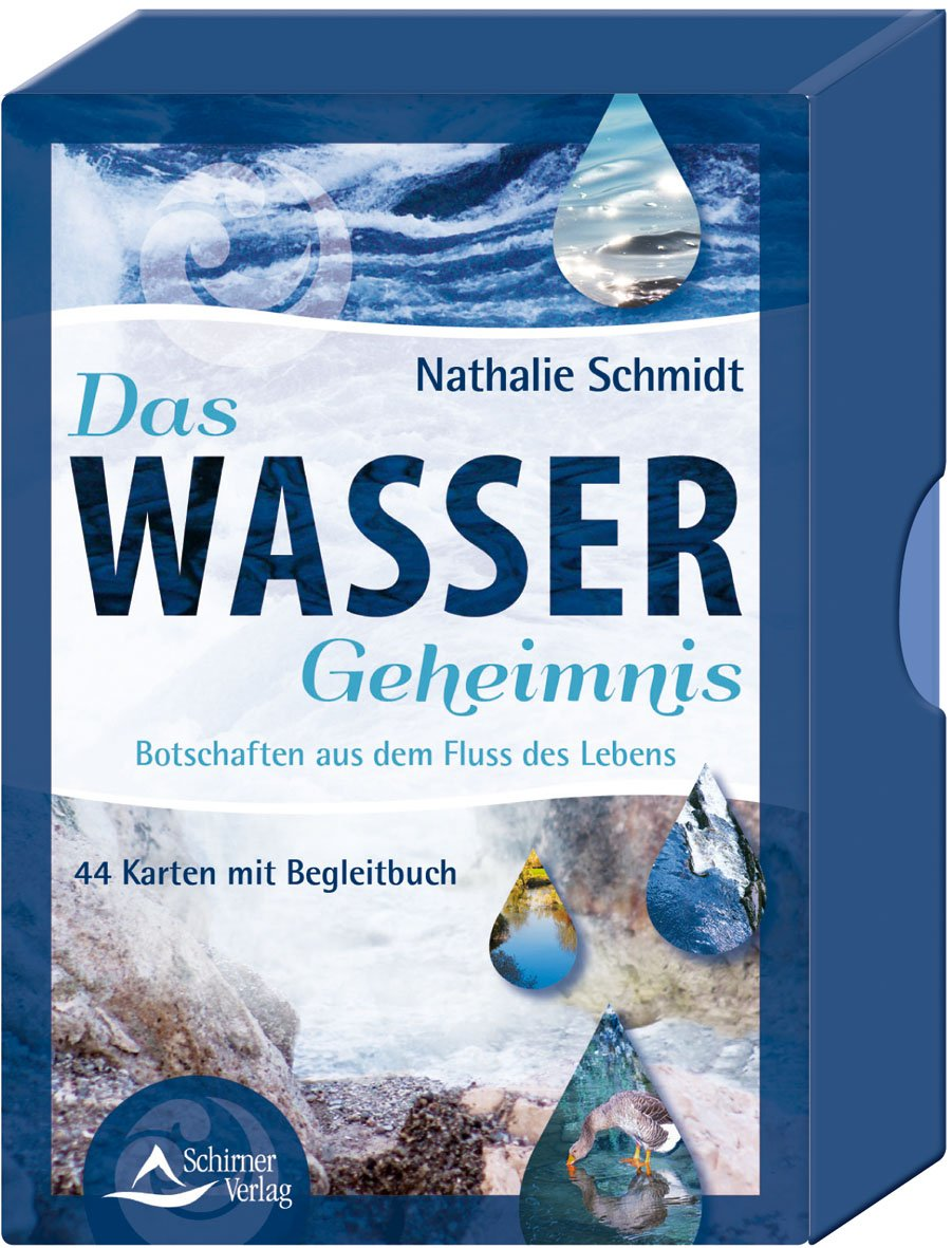 Das Wasser-Geheimnis: Botschaften aus dem Fluss des Lebens - 44 Karten mit Begleitbuch Taschenbuch – 19. Juli 2018 Nathalie Schmidt Schirner Verlag 3843491097 Tarot