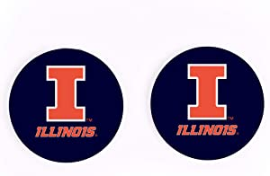 University of Illinois Logo 2.75 x 2.75 Absorbent Ceramic Car Coasters Pack of 2