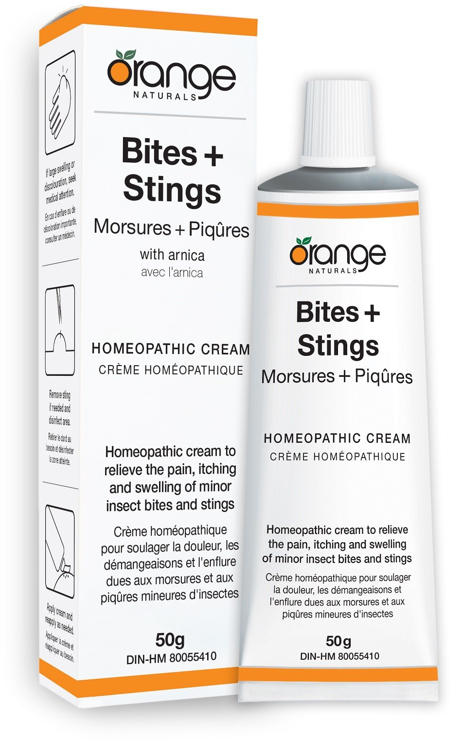 Orange Naturals Homeopathic Cream - Bites + Stings, 50 g