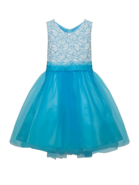 83d288a3c4ae Amazon.com  Kid s Dream Big Girls Aqua Lace Tulle Plus Size Junior ...