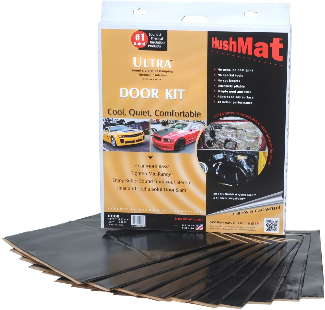 1960-1963 Ford Falcon Wagon Floor Hushmat 697611 Sound and Thermal Insulation Kit